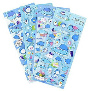 Underwater Whale Sea World Stickers 4 Sheets with Octopus and Jellyfishs PVC Foam Fish Stickers for Kids - 120 Stickers