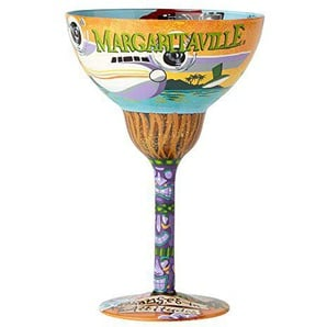 Enesco design by Lolita Margaritaville artisan-blown Glass Margarita Glass, 12 oz.