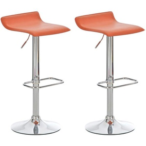 Set 2 Sgabelli Bar DYN in Similpelle Arancione - CLP