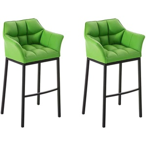 Set 2 sgabelli bar DAMASO in similpelle Verde Nero - CLP