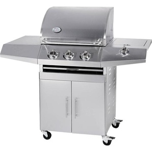 Barbecue A Gas Gpl E Metano 3 Fuochi Turrer Roasted Plus Inox...