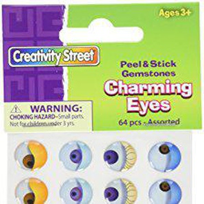 Chenille Kraft AC1645 Acid-Free Peel and Stick Charming Eye, 6/16 to 1/4 Size, Assorted Color, 0.75 Height, 2.75 Width, 7 Length (Pack of 384)