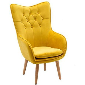Divano Lazy Sofa Lazy Computer Chair Casual Home Seat Semplice e Moderno Anchor Live Broadcast Chair Cute Creative Dormitory Chair (Color : Yellow)