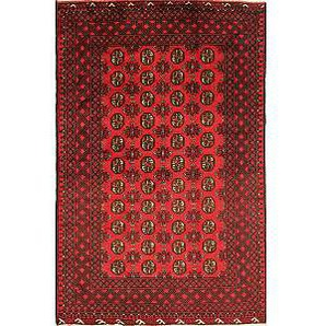 Nain Trading Tappeto Orientale Afghan Akhche 246x159 Marrone Scuro/Rosso (Lana, Afghanistan, Annodato a mano)