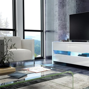 Mobile porta-TV Selsey con LED: Bianco