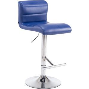 Sgabello Denver V2 in similpelle Blu - PAAL OFFICE FURNITURE