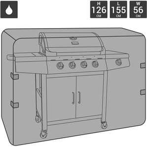 TELO UNIVERSALE PER BARBECUE A GAS/CARBONE IN POLIESTERE LARGE 4-5 fuochi - CHARLES BENTLEY