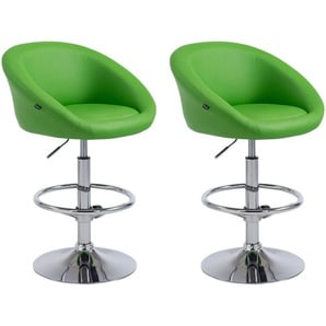 Set 2x Sgabelli Lounge Miami V2 in similpelle Verde - CLP