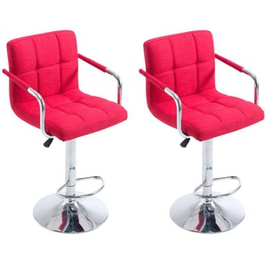 Set 2 sgabelli LUCY V2 in tessuto Rosso - CLP