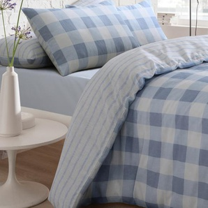 Set copripiumino Pieridae: Super King size Gingham / Blu