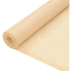 Rete per Privacy in HDPE 1,5x25 m Beige - VIDAXL