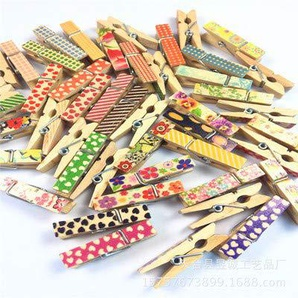 ysister Mollette in Legno da 100 Pezzi Mollette in Legno Colorate Clip Decorative per Appendere Decorazioni Mini Colorate Mollette per Foto Biglietti Scrapbooking Matrimonio