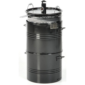 Barbecue Affumicatore A Carbone Carbonella Taddei Barrel Nero...