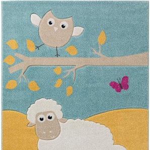 Tappeto bambino Owl and Sheep Multicolor 80x150 cm