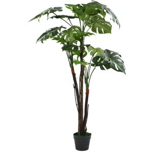 Monstera Pianta Artificiale con Vaso 130 cm Verde