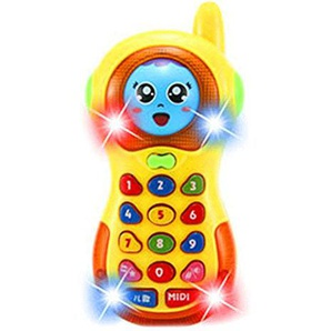 TOYMYTOY Musica Telefono cellulare Cartoon Musica Telefono Toys for Baby (Giallo)