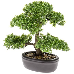 Emerald Ficus Artificiale Mini Bonsai Verde 32 cm 420002