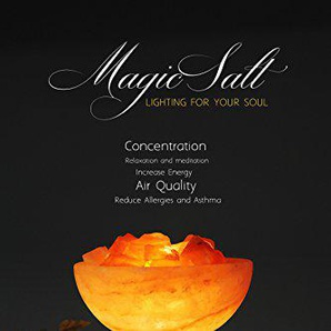 Lampada di sale dell Himalaya Magic Salt® Lighting for Your Soul – (Ciotola con Rocce di Fuoco)
