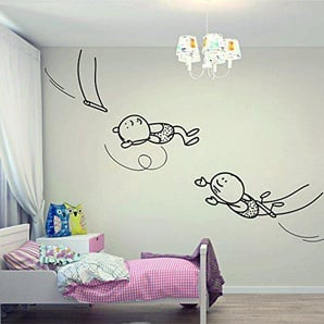 Wall Decal Interior Vinyl Sticker Decals Art Decor Design Fabulous Heroes Swing Acrobats Circus Jumpchild Decoration Kids Nursery (I33)wall Decal Vinyl Sticker Art Decor Design Interior by DecorWallDecals