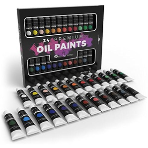 Castle Art Supplies, set di 24 colori a olio per artisti e principianti