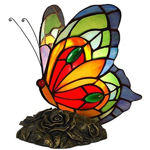 World Art Lampade Stile Tiffany, Multicolore, 22.5x18.5x16 Cm