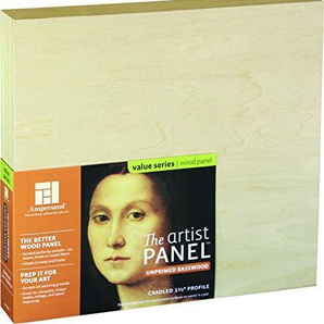 Artist Panel Unprimed Basswood 1.5 Inch 18X18 by Ampersand