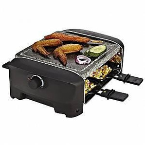 Princess 162810 Raclette 4 Stone Grill Party Piastra Barbecue 600 W Colore Nero