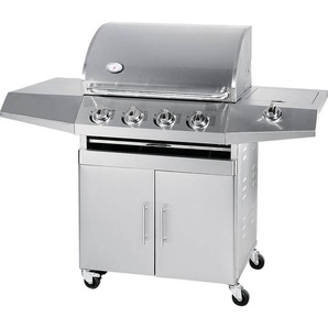 Barbecue A Gas Gpl E Metano 4 Fuochi Turrer Roasted Plus Inox Con ...