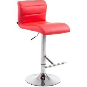Sgabello Denver V2 in similpelle Rosso - PAAL OFFICE FURNITURE