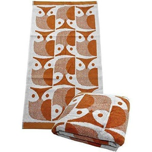 Orla Kiely Gufo Papaya Asciugamano - Ashley Wilde