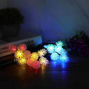 Stringa di LED, Pinecone Style Solar Powered Waterproof Lights String per Courtyard Garden 4.8m 20leds(Colorato)