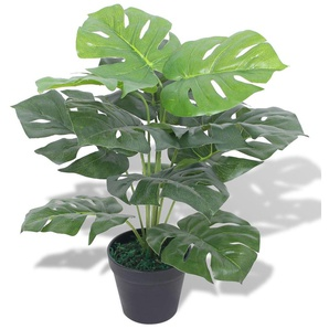 Monstera Artificiale con Vaso 45 cm Verde