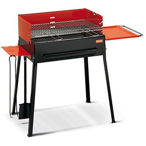 Barbecue A Carbone Carbonella Con 2 Accessori Griglia In Ghisa Fer...