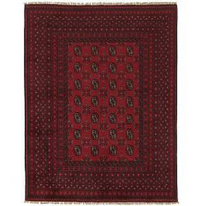 Nain Trading Tappeto Orientale Afghan Akhche 188x150 Marrone Scuro (Afghanistan, Lana, Annodato a mano)